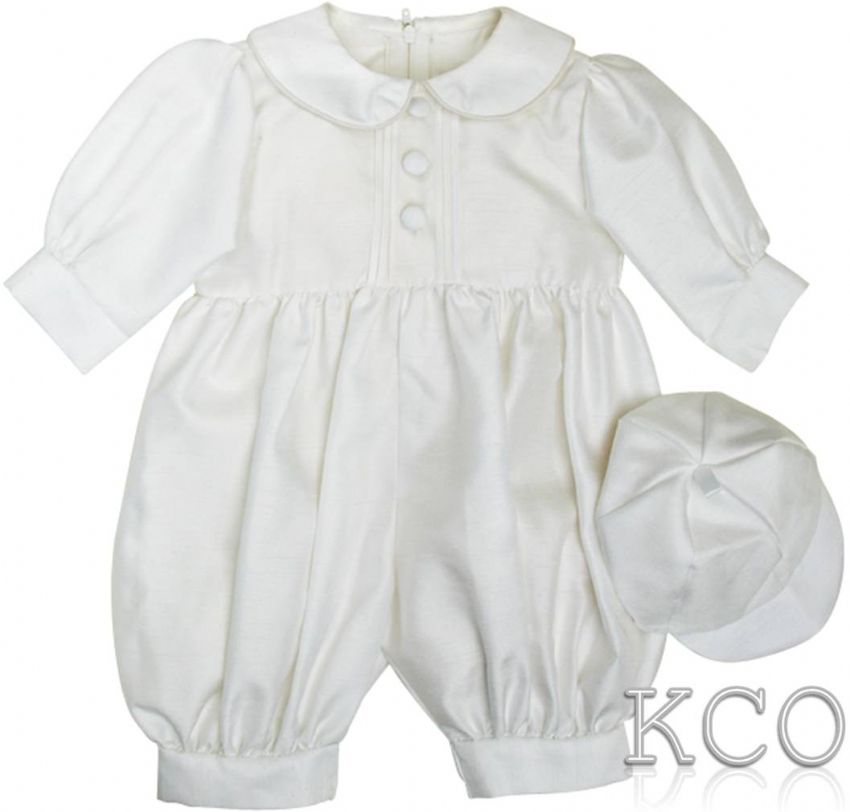 Pintuck Romper White~ Boys Romper Suits